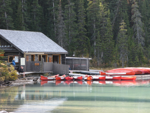 Canoe Hut at Chateau Lake Louise