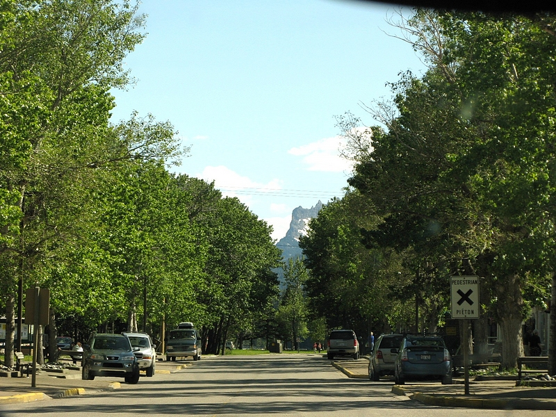 Street in Waterton National Park