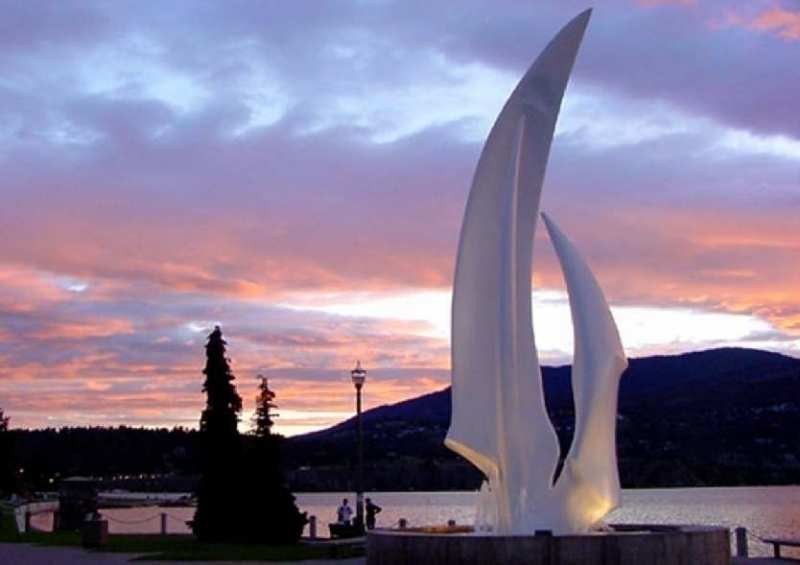 Sunset over dolphins - Kelowna